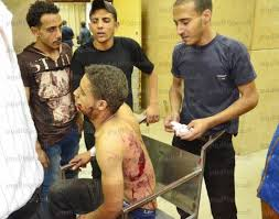 July 2013, Brotherhood Militias bombed a police station in Al-Mansoura City - many police soldiers and civilians got killed and injured