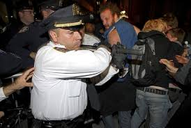 occupy wall street protesters beaten by the us police