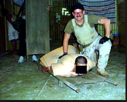 Abu Graib prison us forces partying on torturing the iraqi prisoners