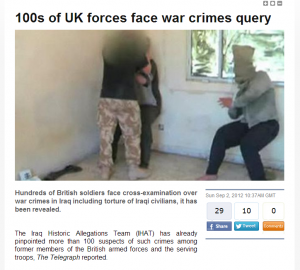 British military forces in Iraq torturing Iraqis
