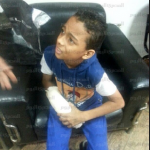 Muslim brotherhood shot a 10 years old child in nasr city for carrying Sisi image