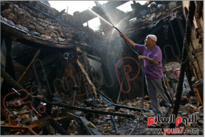 Uner poverty egyptian civilian home got totally burned by brotherhood 16 august 2013