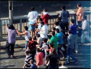 brotherhood shooting randomly at civilians from the 15th of May bridge