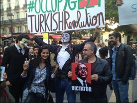 demonstrations against Erdogan of turky best friend of Obama