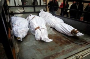 more than 20 bodies found dead under Rabaa stage