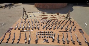 25 August 2013 Military Borders security managed to stop weapons smuggeling thru the West Military Area in South Sewa which is an area forbidden to go close to it by the law due to national security matters - Military ( 60 rifles - 70 guns 9 mm - 3000 bullets - 6000 bullets 9 mm)