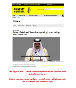 Amnesty International report Qatar detained Jasmine Uprising poet being trialed in secret for life sentence