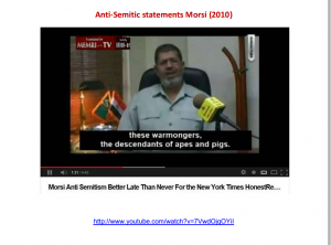 Anti-Semitic statements Morsi 2010