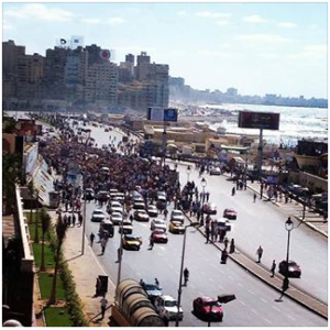 Brotherhood demonstration in Alexandria Stanly Bridge 6 september 2013