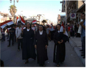Christians Egyptians Sisters participated in the 30 June 2013 revolution