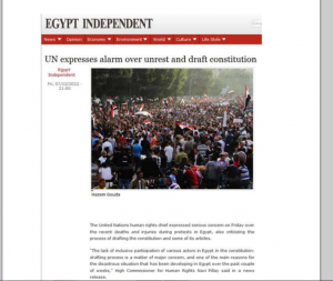 Egypt unrest against over the Brotherhood constitution draft