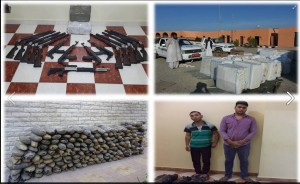 Egyptian military seizing weapons and fighting terrorists