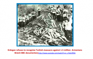 Erdogan refuses to recognize Turkish massacre against 1.5 million Armenians