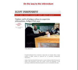 Referendum on the constitution 90 percent of judges refused to supervise the referendum voting