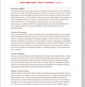 Report 2 on Brotherhood constitution Amnesty international