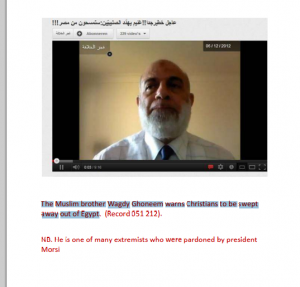 The Muslim brother Wagdy Ghoneem warns Christians to be swept out of Egypt