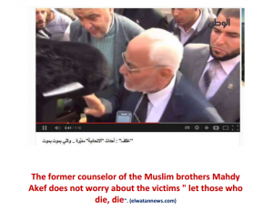 The former counselor of the MB Mahdy Akef does not worry about the victims let those who die die