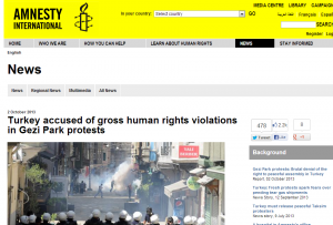 Turkey accused of gross human rights violations in Gezi Park protests