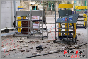 6 october 2013 brotherhood suppoerters damaged gaz station i ramsis square