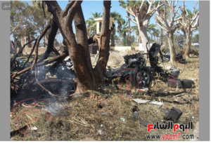 7 october 2013 South Sinai a bombed car exploded inside the security yard directory in Altor City resulted the death of 5 Police individuals and the injury of 50 officers and soldiers