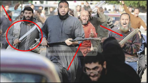 Brotherhood supporters carrying swords and practice violence in their violent protests