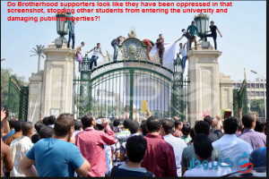 Brotherhood supporters damaging public properties and practicing violence in the Universities