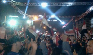 Egyptians celebrate the 6 october victory