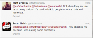 Matt MC Bradley Correspondent twitter account