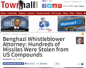 Benghazi Whistleblower Attorney Hundreds of Missiles Were Stolen from US Compounds