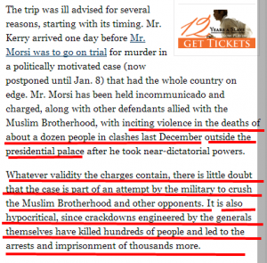New york times despise Egyptian martyrs and victims killed and tortured by muslim brotherhood