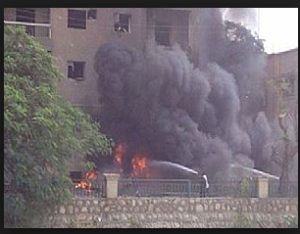 Terrorists elements in Ismailia Egypt bombed the Egyptian Intelligence Building and caused serious damages