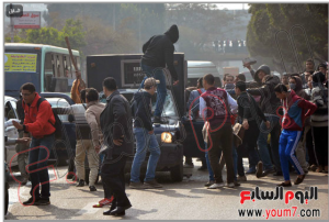 9/1/2014 Brotherhood students of Ain Shams University tried to release prisoners from a police vehicle