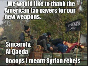 Obama supports Al Qaeda terrorists who slaughter Christians in Syria