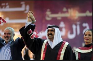 Qatarian royal family with Ismail Haniya Hamas terrorists Organization leader