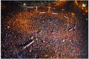 Tahrir square 25 jan 2014 egypt against terrorism