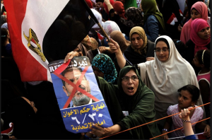 Egyptian women demonstrations against Muslim Brotherhood practices against women