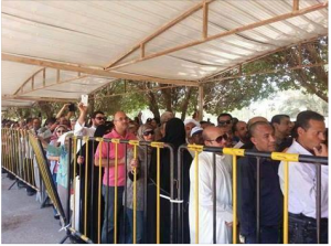 Egyptian people are voting on presidential elections in Oman