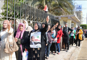 Egyptian voters presidential elections 2014