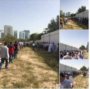 Egyptians are voting on the presidential elections in Abu Dhabi