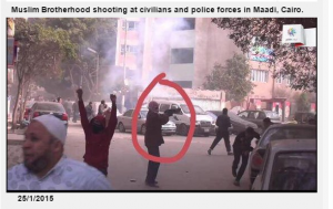 Muslim Brotherhood armed demonstrations shooting at citizens and police forces in Maadi Cairo 25 Jan 2015