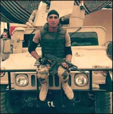 Martyr Mohamed Ayman Shaweeka a 20 years old soldier in the Egyptian Army died after hugging a suicide bomber, before blowing himself up with an explosive belt